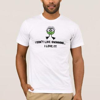 Camiseta Eu não gosto de nadar. - Caráter verde da natação