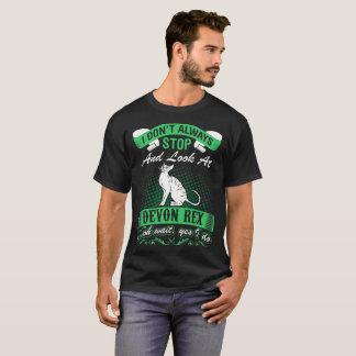 Camiseta Eu não olho sempre o gato de Devon Rex oh sim que