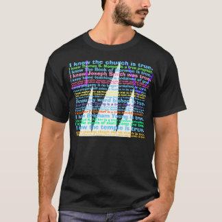 Camiseta Eu não penso, MIM SEI que o livro de Mormon é