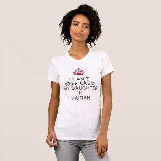 CAMISETA EU NÃO POSSO DORMIR MINHA FILHA SOU HAITIANO