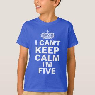 Camiseta Eu não posso manter o aniversário de criança