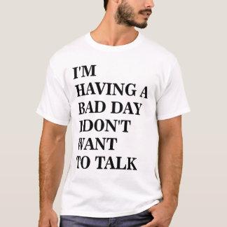 Camiseta Eu não quero falar