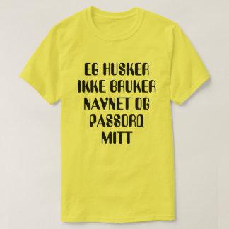 Camiseta Eu não recordo meus username e senha