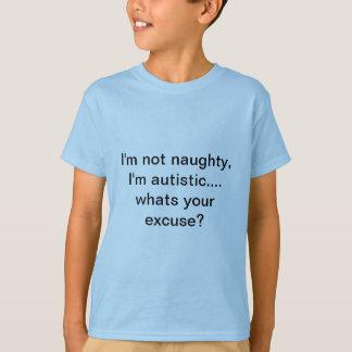 Camiseta Eu não sou impertinente, mim sou autístico. que é