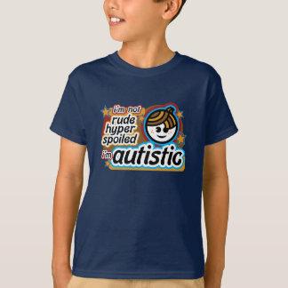 Camiseta Eu não sou rude… Eu sou autístico (boy2)