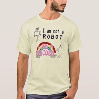 Camiseta Eu não sou um robô, mim sou um unicórnio