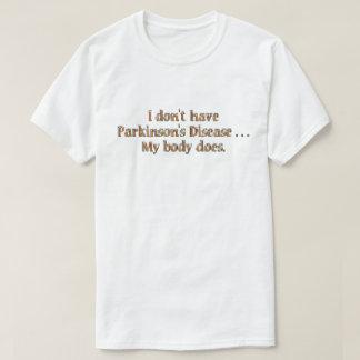 Camiseta Eu não tenho o lght T do orng do paládio