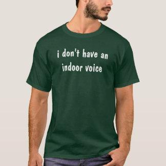 Camiseta eu não tenho uma voz interna