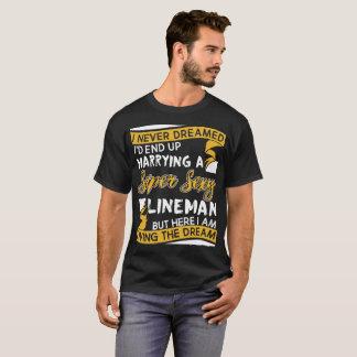 Camiseta Eu nunca sonhei-me terminaria acima o casamento
