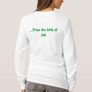 Camiseta Eu obtenho meu dinheiro… do banco do pai