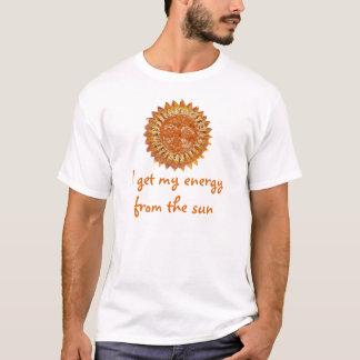 Camiseta Eu obtenho minha energia do t-shirt de Sun