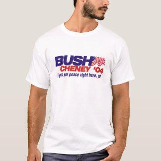 Camiseta Eu obtive a paz do YER certo aqui, amigo