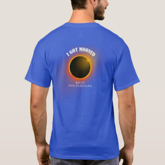 Camiseta Eu obtive a t-shirt Mooned o eclipse solar total