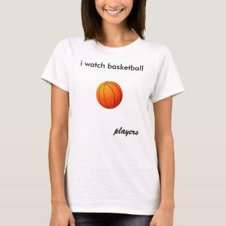 Camiseta eu olho o basquetebol, jogadores