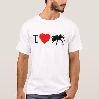 Camiseta Eu os Tarantulas do coração afrouxo o ajustado