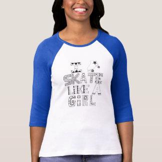 Camiseta Eu patino como uma menina!