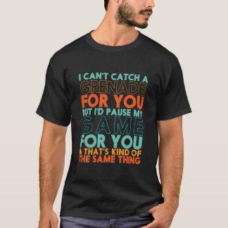 Camiseta Eu pauso meu jogo para você t-shirt engraçado do