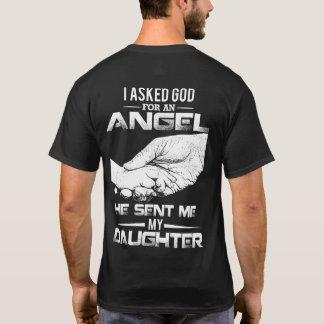 Camiseta Eu pedi o deus um anjo que me enviou minha filha