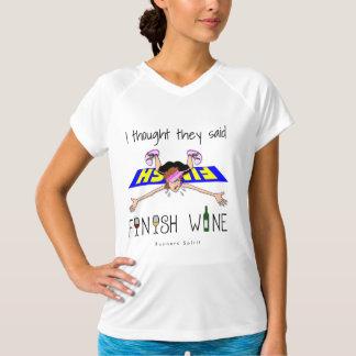 Camiseta Eu pensei que disseram o vinho do revestimento -