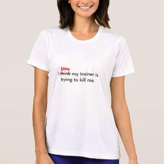 Camiseta Eu penso que meu instrutor está tentando ao ki… -