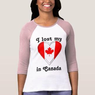 Camiseta Eu perdi meu coração em Canadá