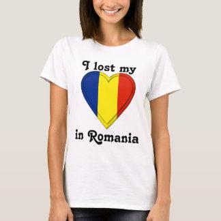 Camiseta Eu perdi meu coração em Romania