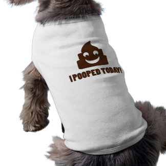 Camiseta Eu pooped hoje o poopie feliz