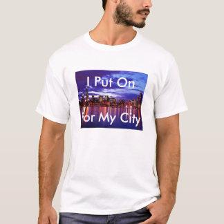 Camiseta Eu pôr sobre para minha cidade