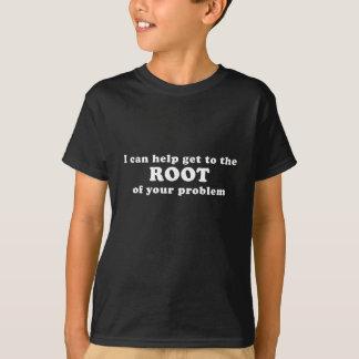 Camiseta Eu posso ajudar a obter à raiz de seu problema