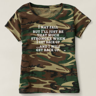 Camiseta Eu posso cair… o T das mulheres do camo