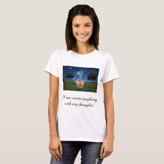 Camiseta Eu posso criar qualquer coisa com meus pensamentos