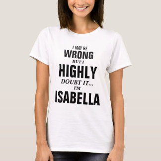 Camiseta Eu posso ser errado mas eu duvido que mim seja
