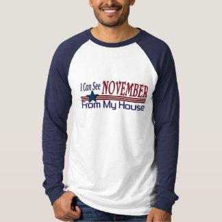 Camiseta Eu posso ver novembro de minha casa engraçada