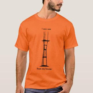 Camiseta Eu posso ver Sutro de minha casa (o preto na luz)