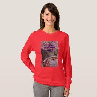 Camiseta Eu preferencialmente Blogging hoje as flores