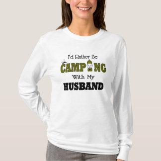 Camiseta Eu preferencialmente estaria acampando com meu