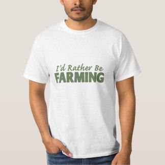 Camiseta Eu preferencialmente estaria cultivando! (cultivo