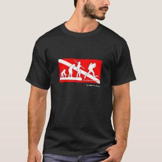 Camiseta Eu preferencialmente estaria mergulhando, t-camisa