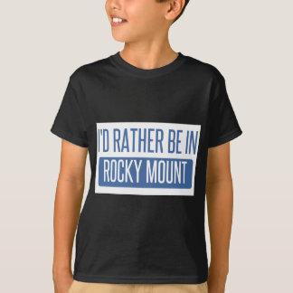 Camiseta Eu preferencialmente estaria na montagem rochosa