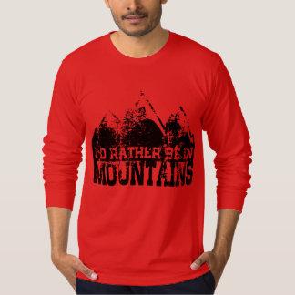 Camiseta Eu preferencialmente estaria nas montanhas