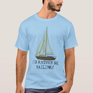 Camiseta Eu preferencialmente estaria navegando o t-shirt
