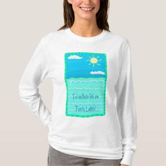 Camiseta Eu preferencialmente estaria no t-shirt do lago