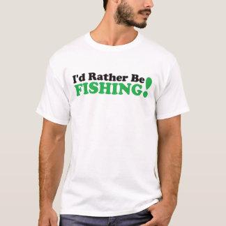 Camiseta Eu preferencialmente estaria pescando - verde