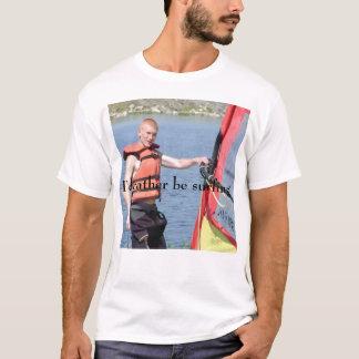 Camiseta Eu preferencialmente estaria surfando
