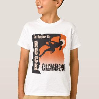 Camiseta Eu preferencialmente seria a escalada galões