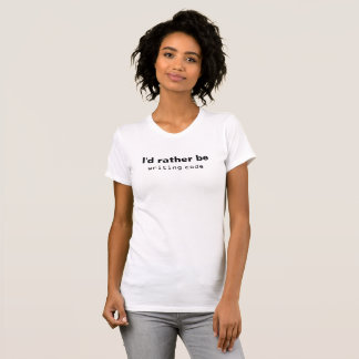 Camiseta Eu preferencialmente seria código da escrita (a