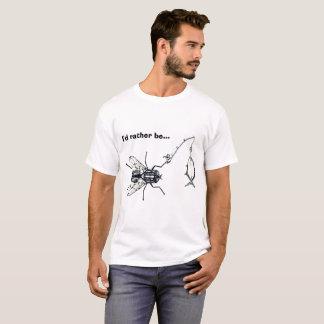 Camiseta Eu preferencialmente seria pesca de mosca