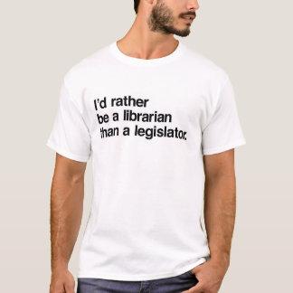 Camiseta Eu preferencialmente seria um bibliotecário do que