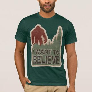 Camiseta Eu quero acreditar