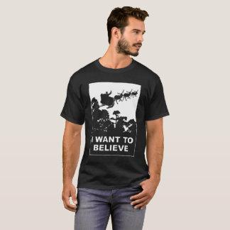 Camiseta Eu quero acreditar em Papai Noel